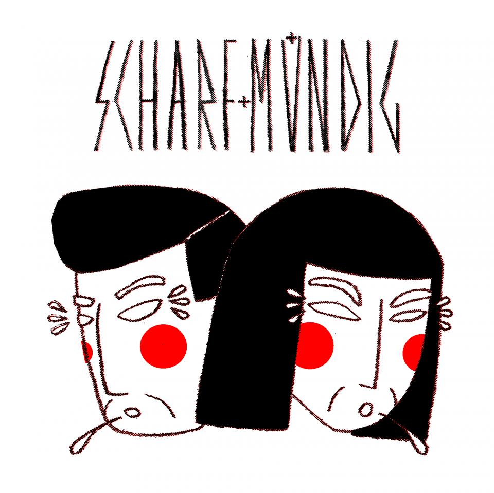 Scharf & mündig logo design