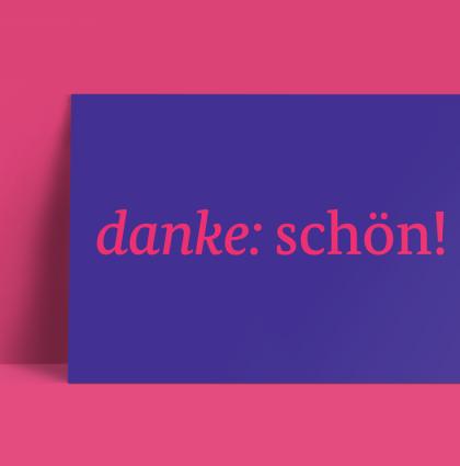 Danke: schön!